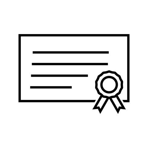 Diploma Line Icono Negro vector