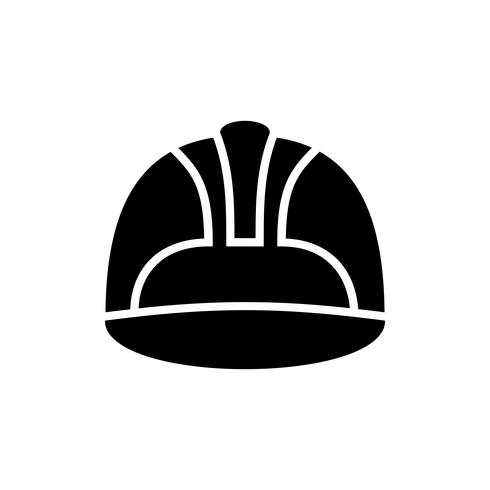 icona del glifo elmetto di sicurezza del lavoro