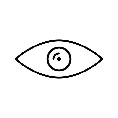 Schwarzes Liniensymbol anzeigen