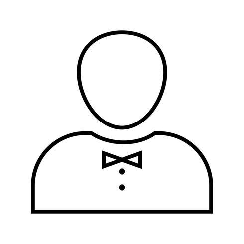 Bella icona di cameriere linea nera