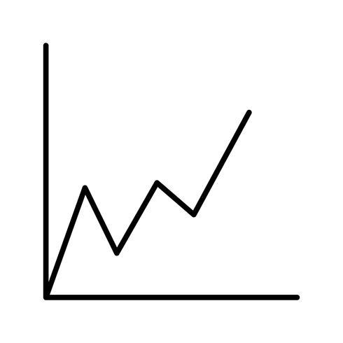 Icône graphique belle ligne noire