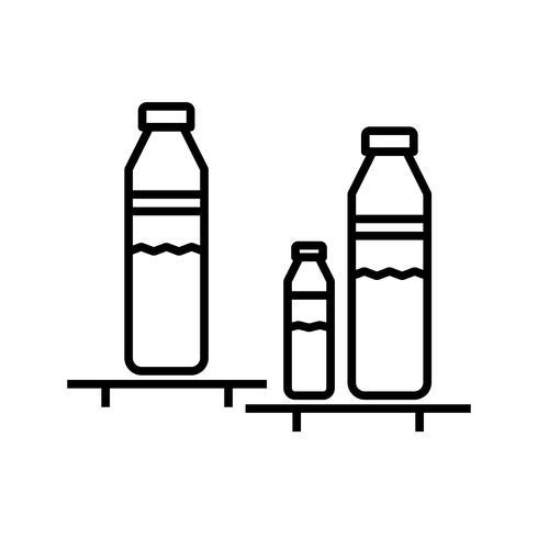 Vacker flaskhylla Linje svart ikon