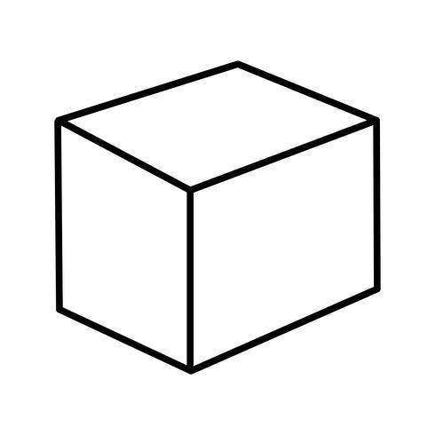 Ícone de linha preta linda cubo