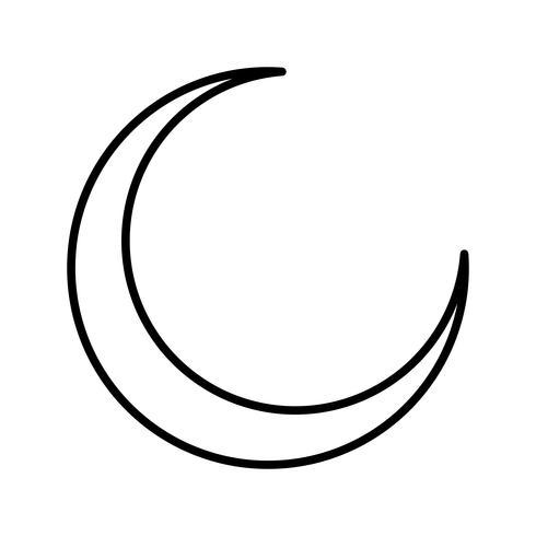 Luna Nueva Hermosa Línea Icono Negro