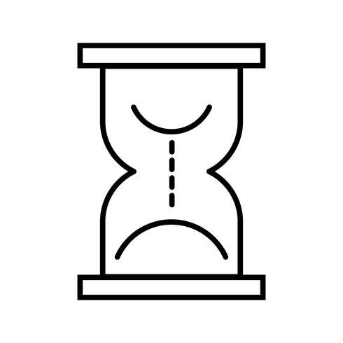 Zandloper lijn zwart pictogram