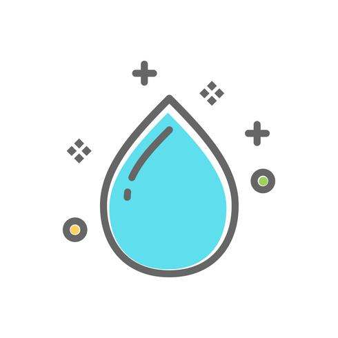 water drop icon for laundry service