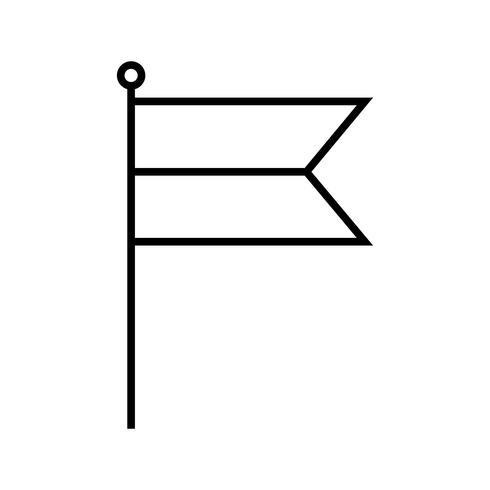 Kennzeichnungssymbol Linie schwarz
