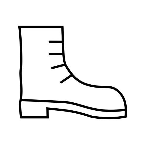 Camping boot Line Black Icon