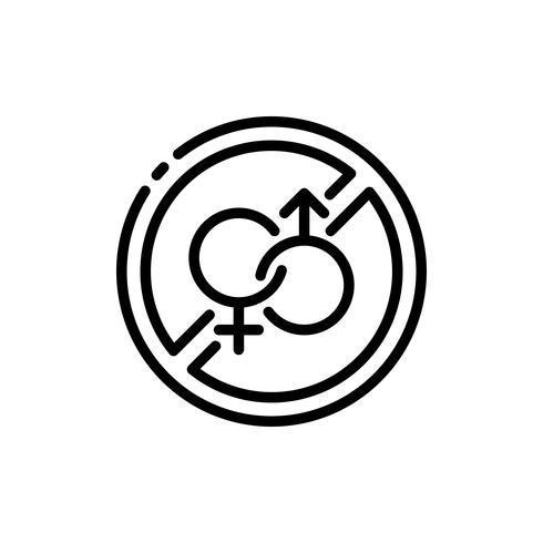Ramadan No Sex icon outline. Ramadan kareem vektor