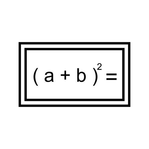 Fórmula linda linha preta ícone