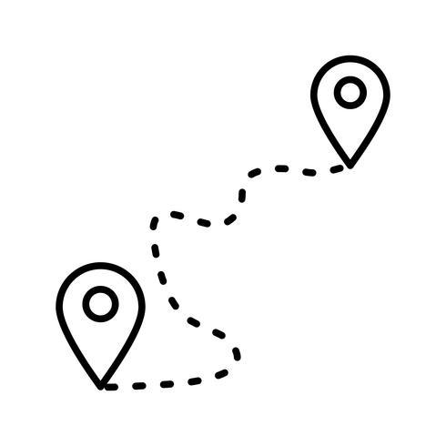 Location Line Schwarzes Symbol