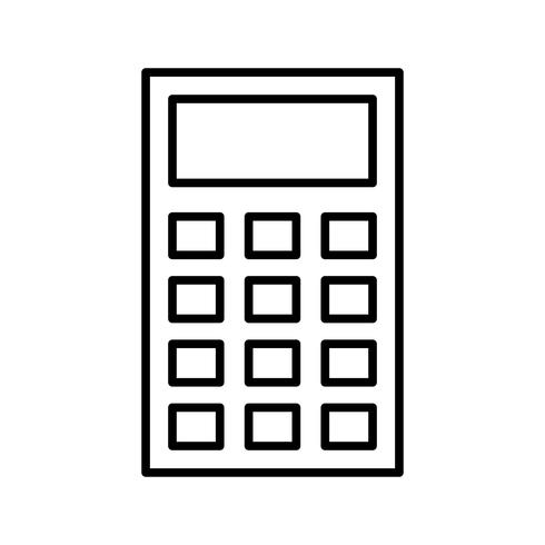 Calcolatrice Icona di bella linea nera