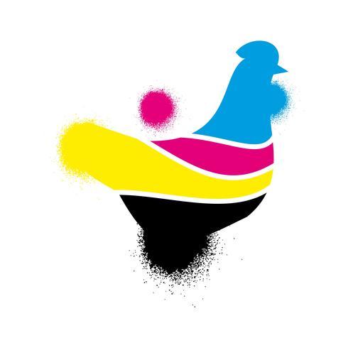 målning tryck logotypikonen vektor