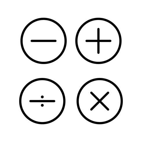 Símbolos matemáticos Hermosa línea icono negro vector