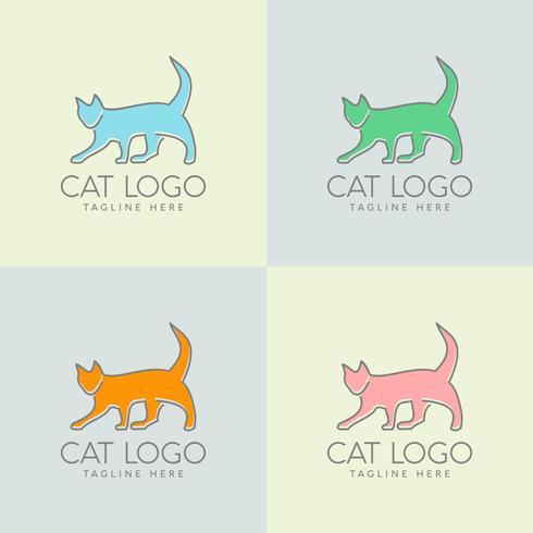 simple cat logo design