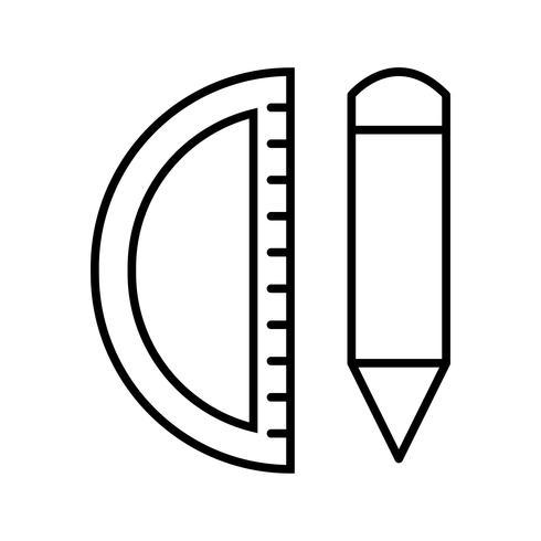 Strumenti di geometria Icona di bella linea nera