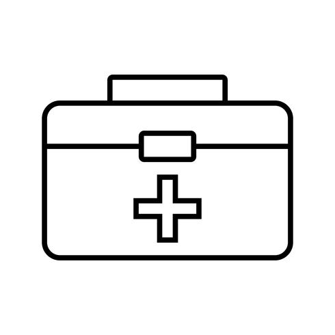 First aid box Line Black Icon