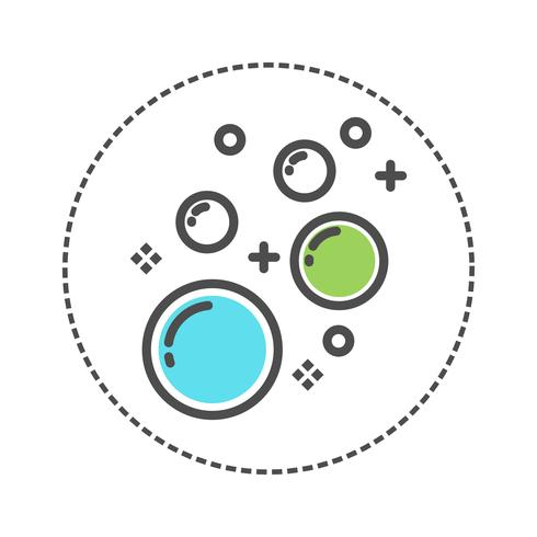 Icon bubble laundry. blue, green, grey color vector