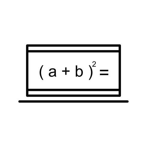 Fórmula en línea Hermosa línea icono negro vector