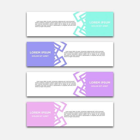 Vector abstracto diseño geométrico banner web plantilla