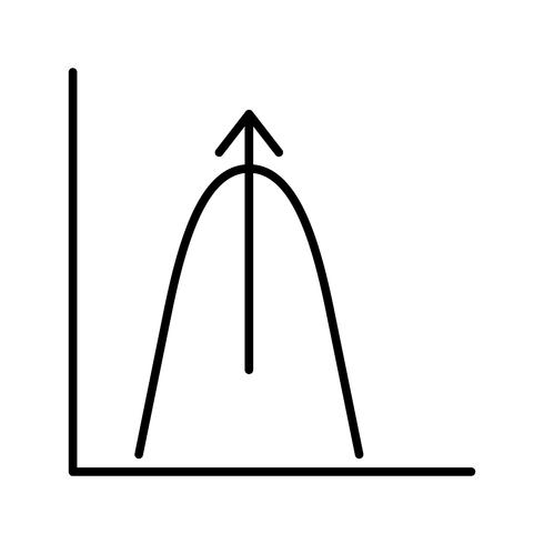 Bell shaped graph Beautiful line black icon