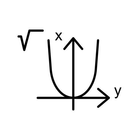 Algebra Icona linea bella nera