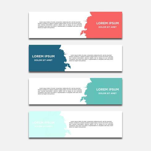 Modello di web banner design geometrico astratto di vettore