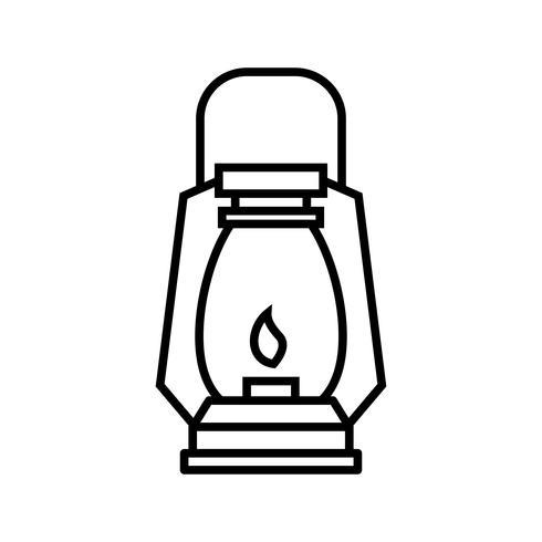 Gaslamp lijn zwart pictogram