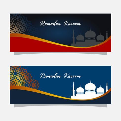 Religion célébration musulmane. Illustration de la bannière de Ramadan kareem. Modèle de carte de voeux islamique.