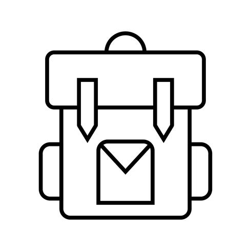 Icona nera linea Bagpack