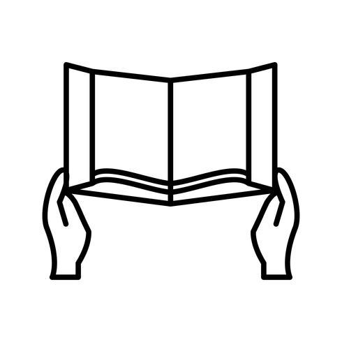 Heilige Schrift lesen Schöne Linie Schwarze Ikone