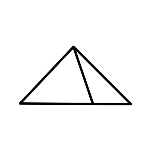Pyramide Schöne Linie Schwarze Ikone