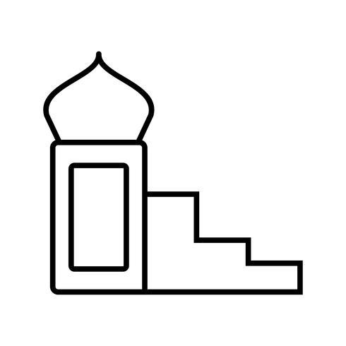 Mimbar Schöne Linie Schwarze Ikone