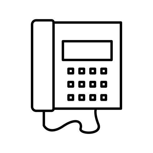 Vacker telefonlinje svart ikon