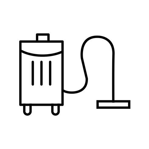 Limpiador de vacío línea icono negro
