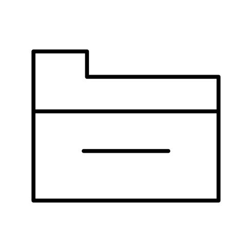 Ícone de linha preta bela pasta