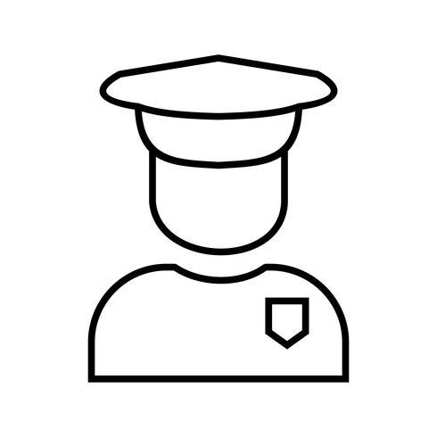 Säkerhetsvakt Linje svart ikon