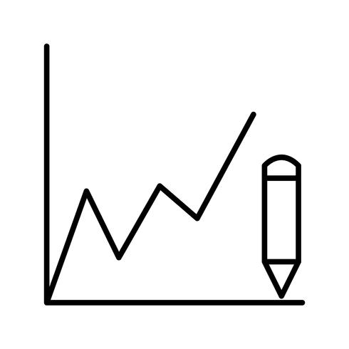 Drawing graphs Beautiful line black icon