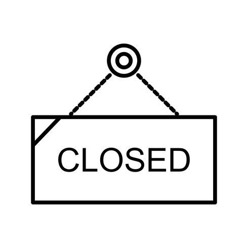 Schöne geschlossene Tag-Linie schwarze Ikone