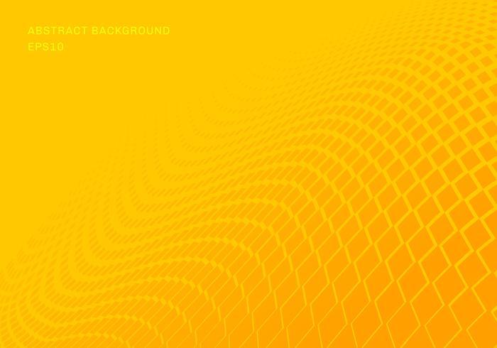 Abstracte gradiënt gele vierkanten golfpatroon halftone horizontale achtergrond pop-artstijl. U kunt gebruiken voor ontwerpelementen presentatie, banner web, brochure, poster, folder, flyer, enz.