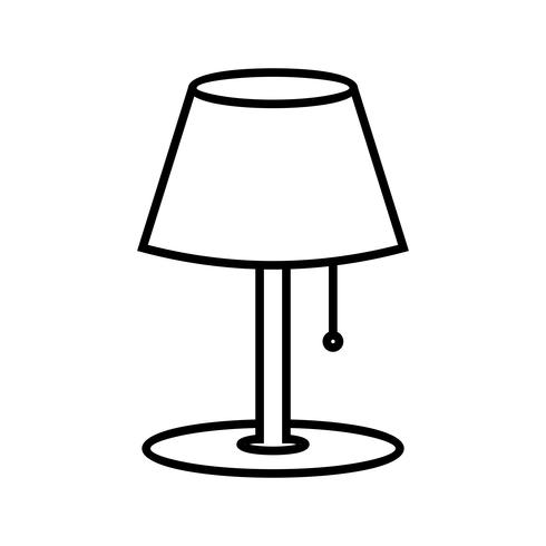 Lamp Line black icon