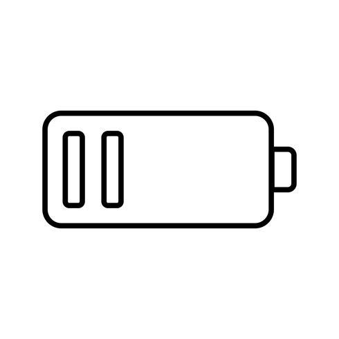 Ícone de linha preta de bateria fraca