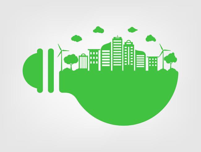 Herbe verte et arbre avec concept écologique et écologie. Nature Ville verte et Monde Environnemental.