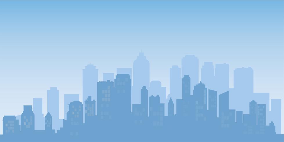 Buildings silhouette cityscape background. Modern architecture. Urban city landscape.