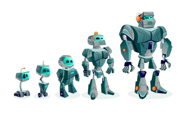 Evolution of robots, technological progress