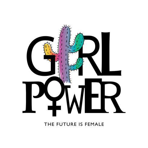Design de puissance de fille