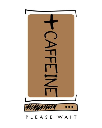 Cafeína de carga concepto de diseño de café. vector