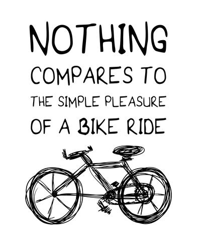 Inspirational quote about riding bike