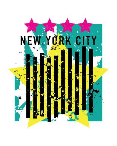 Elemento de diseño hermoso de la ciudad de Nueva York
