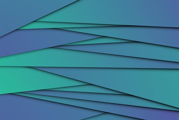 Papeles abstractos coloridos, ilustración vectorial